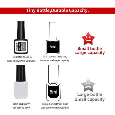 LEMOOC 8ml UV Gel Polish Nail Soak off Pure Tips Glitter Sequins Gel Varnish 4