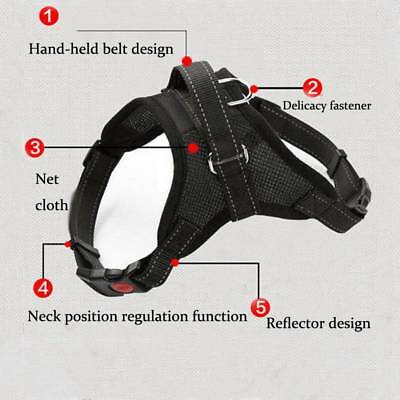 Non-Pull Dog Harness Adjustable Pet Puppy Walking Strap Vest Soft Chest Belt UK 6