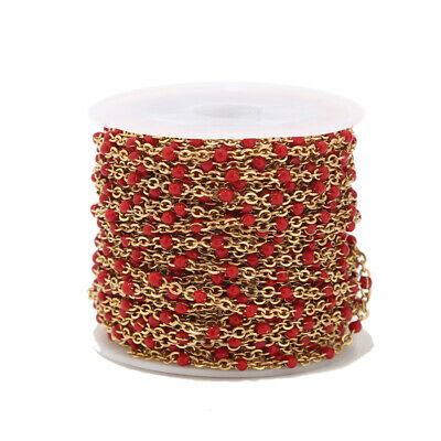 2 Meters Stainless Steel Enamel Ball Chain Link Cable Chains for DIY Necklaces 12
