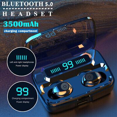 Bluetooth 5.0 Headset TWS Wireless Earphones Mini Stereo Headphones LED Earbuds 8
