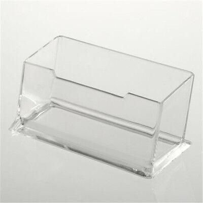 Transparent Cuboid Acrylic Office Desktop Business Card Holder Case