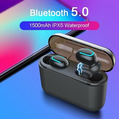 Mini TWS True Wireless In-Ear 3D Stereo Bluetooth V5.0 Earphones Earbuds Headset 3