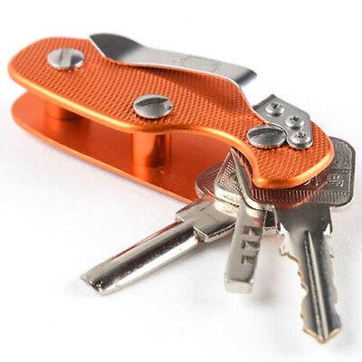 EDC Aluminum Key Holder Organizer Clip Folder Keyring Keychain Case Pocket ODUS