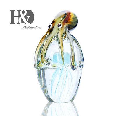 Glass Jellyfish&Octopus Animal Wedding Art Glass Blown Crafts Home Figurine Gift