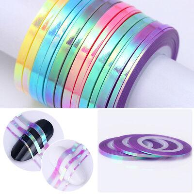Matte Glitter Nail Striping Tape Line Mermaid Colorful Nail Art Adhesive Sticker