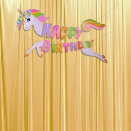 US 3D Horse Happy Birthday Bunting Garland Alphabet Hanging Banner Party Decor