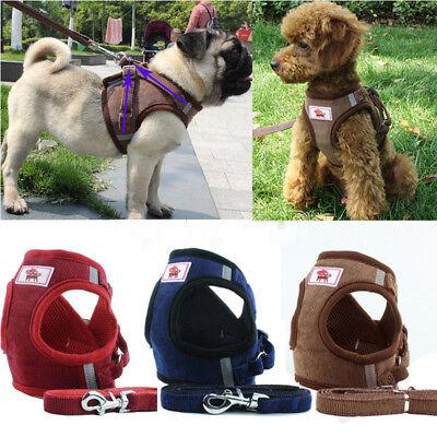 Non Pull Dog Harness Adjustable Soft Padded Vest Small Medium Mesh Jacket XS-XL 5