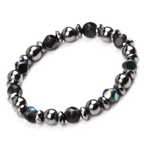 7 Chakra guérison perles bracelet de perte de poids en pierre d/'hématite ITHWC