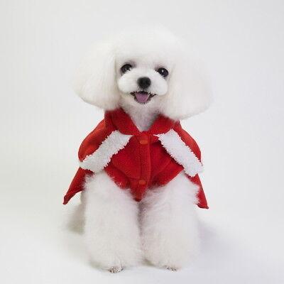 Pet Dog Puppy Santa Shirt Christmas Clothes Costumes Warm Jacket Coat Apparel 8