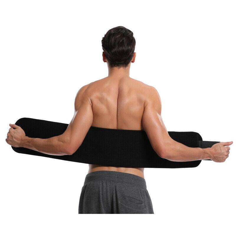 UK Men Women Waist Trimmer Belt Sweat Wrap Tummy Stomach Weight Loss Fat Burner 12