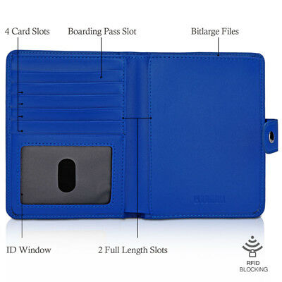 RFID Blocking Passport Holder Travel Wallet Leather Case Cover Securely Holds US 3