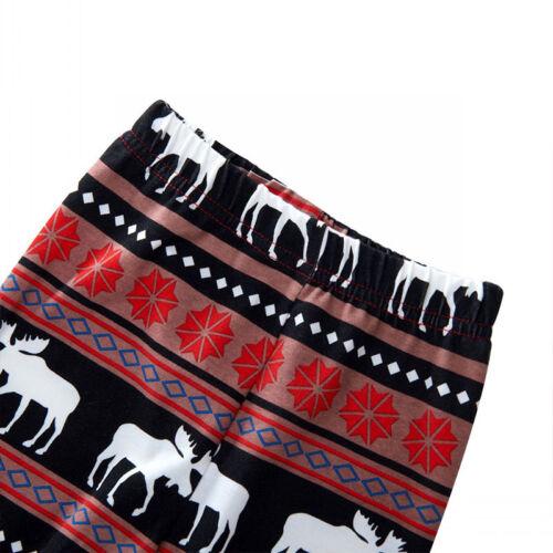 2Pcs Kids Boys Girls Christmas Pajamas Sleepwear Nightwear Xmas PJ's Outfits Set 11