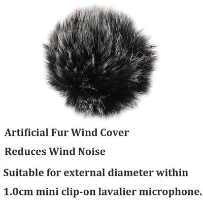 Universal Furry Outdoor Microphone Windshield Wind Muff Lavalier Lapel Mic RODE 4