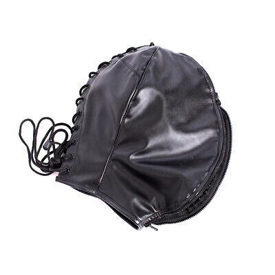 PU Leather Slave Restraint Head Mask Fetish Hood Zipper BDSM Sexy Adult Bondage 11