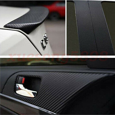 3D Waterproof Carbon Fiber Vinyl Car Wrap Sheet Roll Film Sticker Decal Paper 5