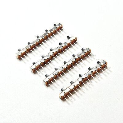 2 Position SPDT 1P2T 3 Pin Leiterplatten-Panel Vertikaler SchiebeschalterFT 3