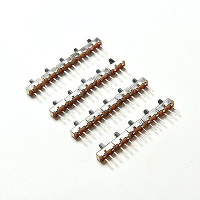 2 Position Spdt 1P2T 3 Pin Leiterplatten-Panel Vertikaler Schiebeschalter LMD YR 3