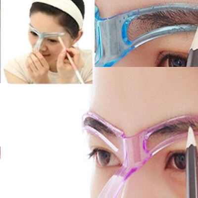 EYEBROW SHAPER TEMPLATE Stereo Stencil Shaping Brow Grooming Makeup ...