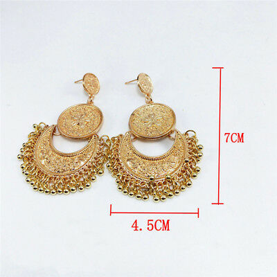 Retro Vintage Antique Mesh Hollow Out Filigree Geometric Hoop Earrings For Women 6