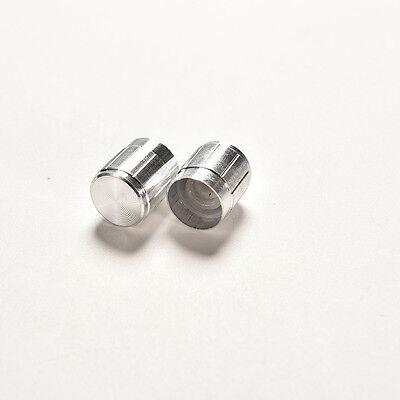10X Aluminum Knob Rotary Switch Potentiometer Volume Control Pointer Hole 6mm <Z
