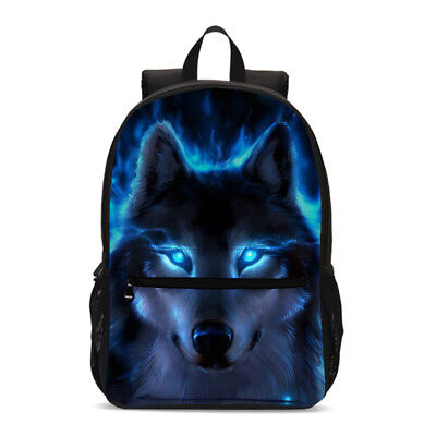 Blue Wolf Moon School Backpack Insulated Lunch Bag Pencil Case Crossbody Bag Lot