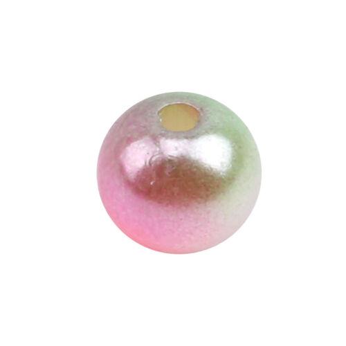 Round Imitation Plastic ABS Pearl Beads Needlework Craft Set Scrapbook Decor 6A 12