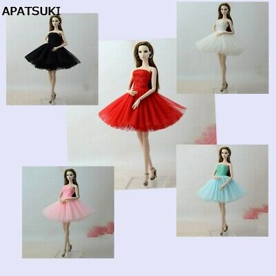 Fashion Summer Dress For 11.5in Doll Short Ballet Dresses For 1/6 Doll Clothes 2