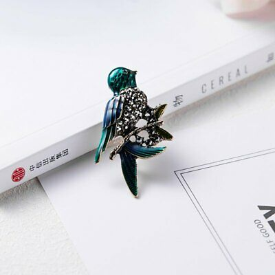 Fashion Brooch Pin Animal Bird Crystal Pearl Enamel Women Wedding Jewelry Gift 9