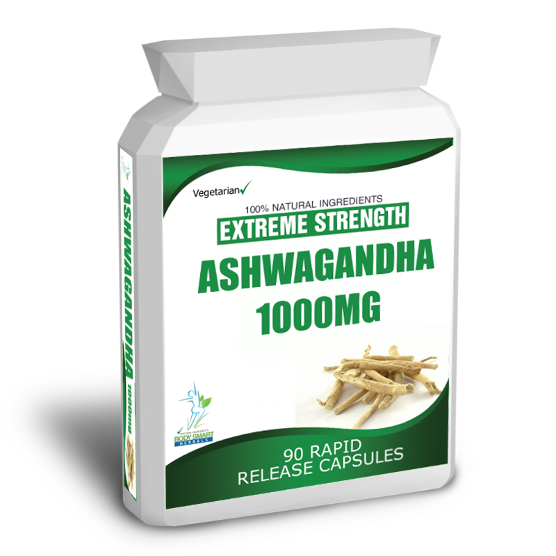 90 ASHWAGANDHA CAPSULES DAILY DOSE 2000mg STRESS FATIGUE ANXIETY RELIEF 2