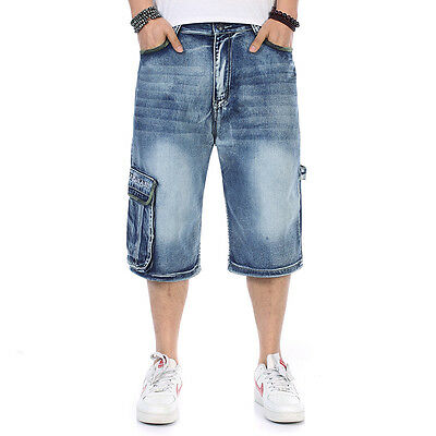 neu herren jeans shorts hosen l ssige hip hop baggy cargojeans plus size w30 w46 eur 19 90. Black Bedroom Furniture Sets. Home Design Ideas