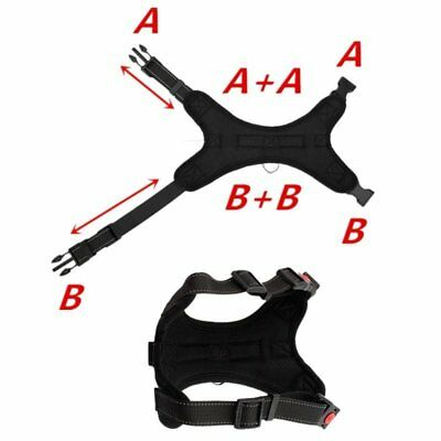 Non-Pull Dog Harness Adjustable Pet Puppy Walking Strap Vest Soft Chest Belt UK 8