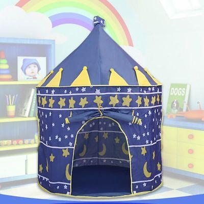 Children Kids Baby Pop Up Play Tent Boys Playhouse Indoor Outdoor Game Castle UK 6