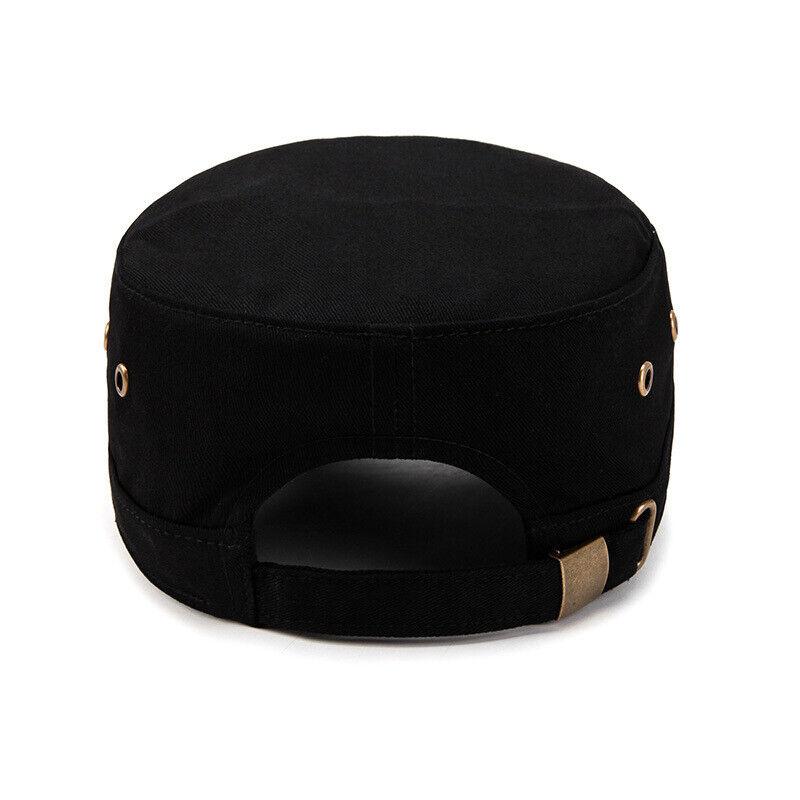 Classic Mens Women Army Military Cadet Combat Cap Sun Adjustable Sport Plain Hat 8