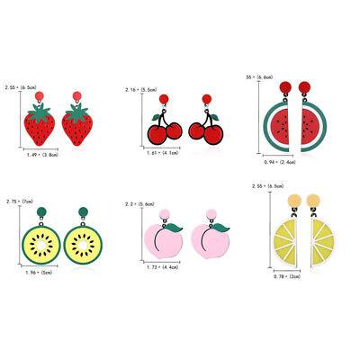 Fashion Women Delicious Fruit Acrylic Pendant Dangle Ear Studs Earrings Jewelry 7