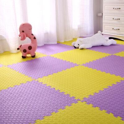 4 Tiles Home Yoga Gym Fitness Interlock EVA Foam Floor Mat Puzzle Baby Kids Play 11