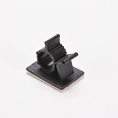 10x Cable Clips Adhesive Cord Management Organizer Wire Holder Clamp Black MO 9