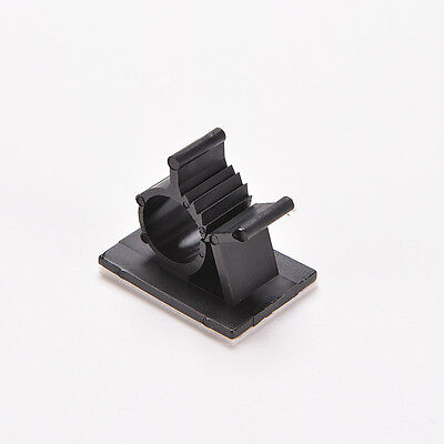 P&T 10x Cable Clips Adhesive Cord Management  Organizer Wire Holder Clamp*-* 9