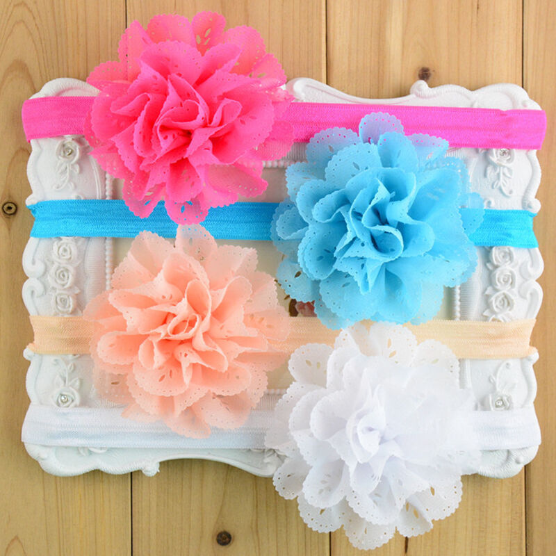 Baby Girls Bunny Cute Kids Ribbon Knot Rabbit Headband Bow Hair Bands Head Bow 9