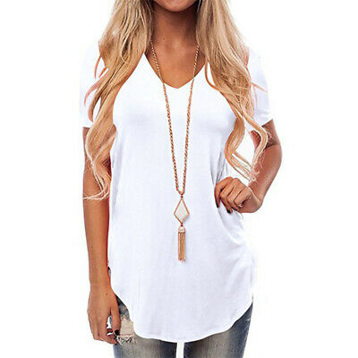 großer Abverkauf bester Lieferant online Shop DAMEN BLUSE KURZARM Longtop Blusen Tops Shirts Tunika Longbluse Casual  Übergroße