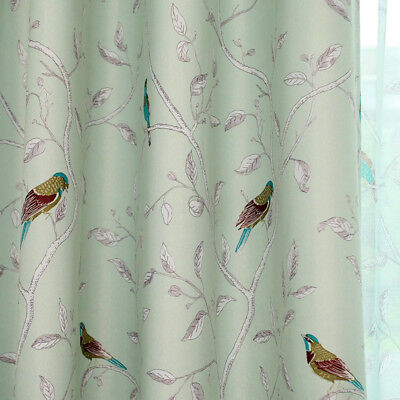 Bird Thermal Blackout Ready Made Eyelet Curtains - Dimout Energy Saving 3