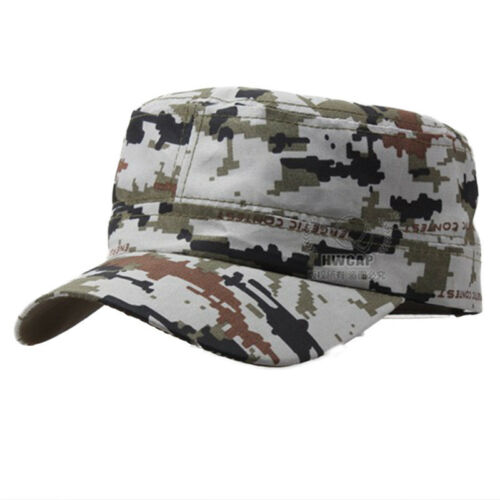 Camouflage Military Army Cap Mens Womens Cadet Hunting Fishing Baseball Work Hat