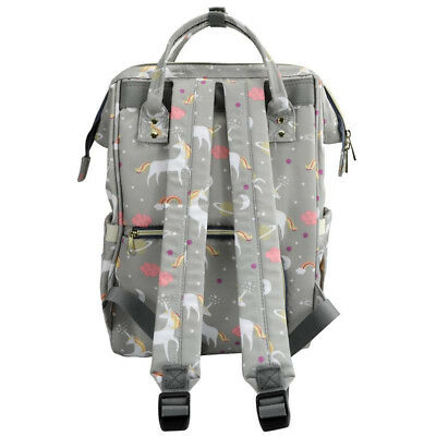 LEQUEEN Mummy Diaper Bag Backpack Maternity Nappy Baby Bags+ 2 Stroller Hooks 12