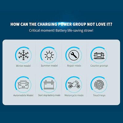 8 Amp Intelligent Car Battery Charger Pulse Repair Starter 12V/24V AGM/GEL UK 7