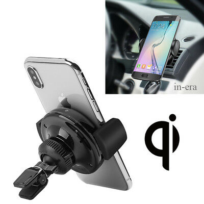Qi Wireless Charger Holder Car Air Vent Mount Dock For Smart Phone Charging US