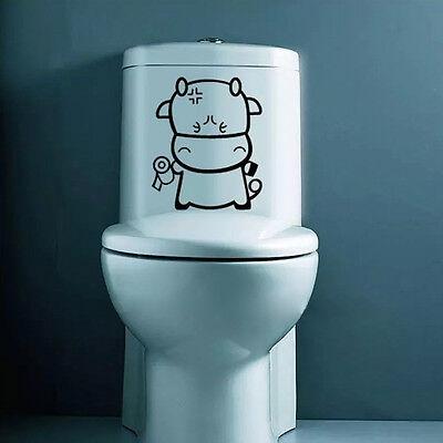 Süße Lustige Wc Aufkleber Türaufkleber Toilette Bad Wandtattoo