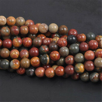 Natural Gemstone Round Spacer Loose Beads 4MM 6MM 8MM 10MM  Assorted Stones 11