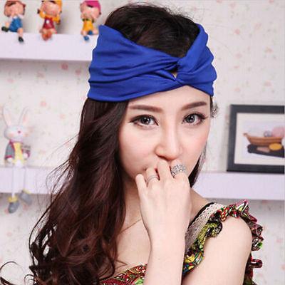 1pc Twist Turban Headband for Women Bows Elastic Sport Hairbands Yoga Head Band 4