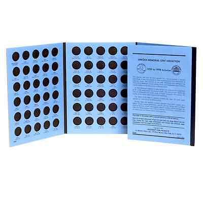 Whitman Blue Coin Folder 9000 Lincoln Memorial Cents 1959 - 1998  Album / Book 2