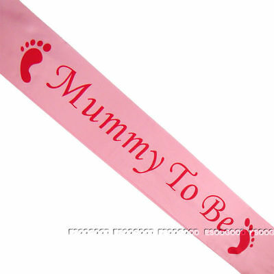 BABY SHOWER SASHES, Mummy to be, Nanny, Aunty & Big Sister & Grandma to be sash
