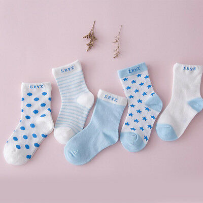 5 Pairs Baby Boy Girl Cartoon Cotton Socks NewBorn Infant Toddler Kids Soft Sock 2